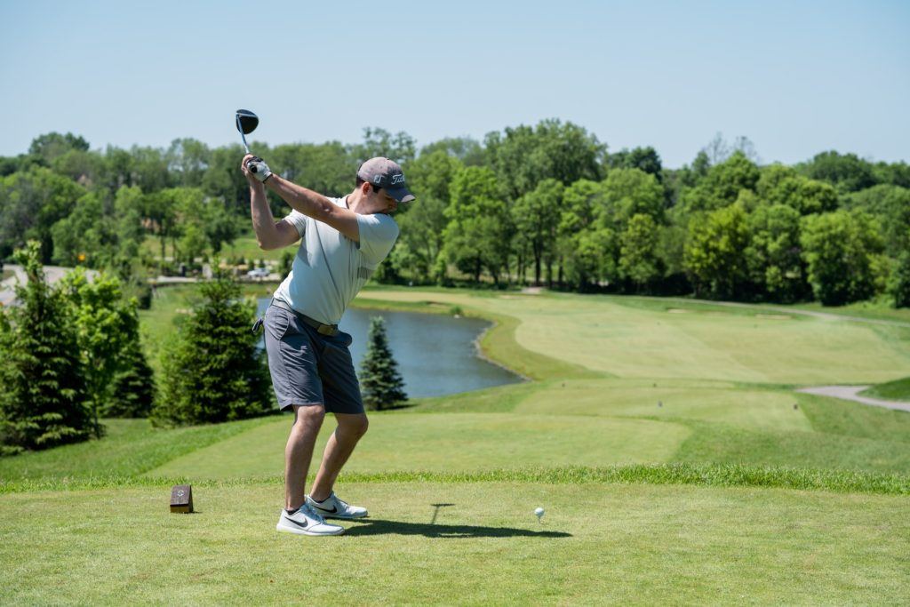 Golfer-driver-shot